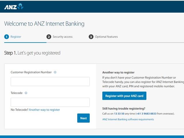 anz internet banking login