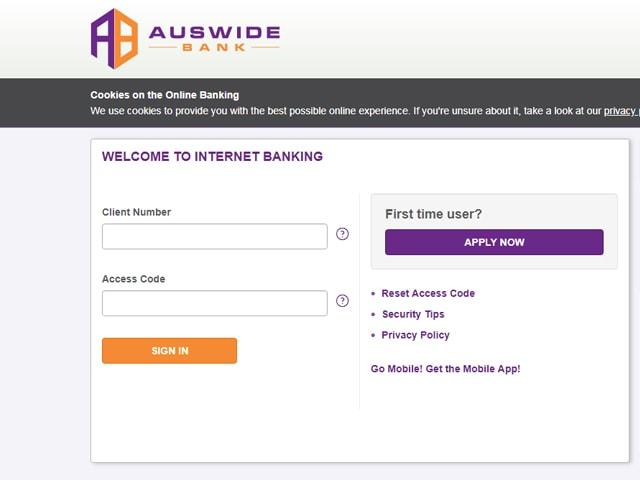 auswide bank internet banking