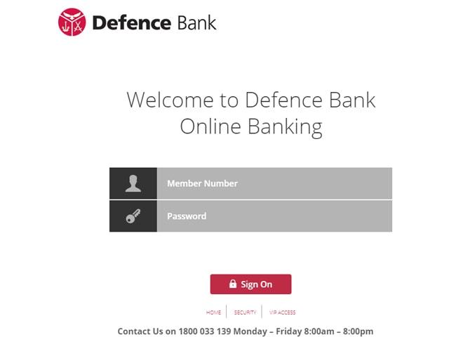 Defence Bank Login
