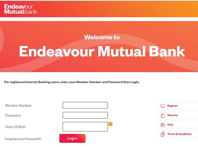 Endeavour Mutual Bank Internet Banking