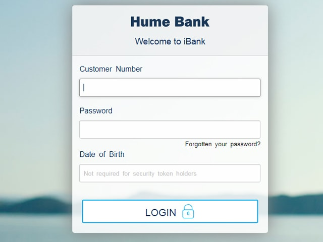Hume Bank Online Banking