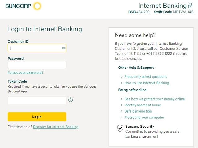 Suncorp Online Banking