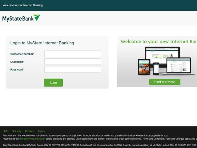MyState Online Banking