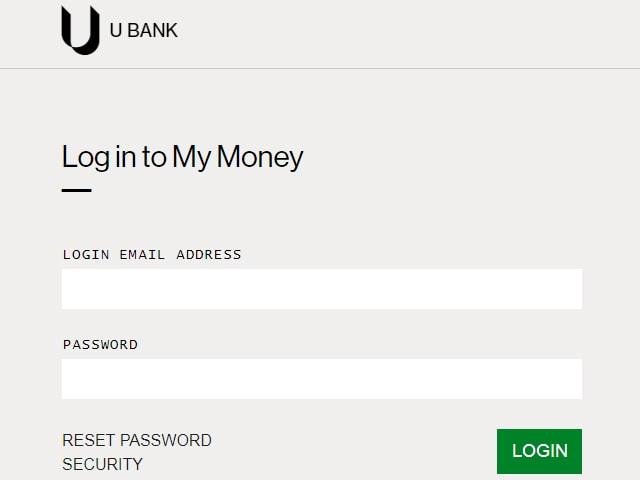 ubank Internet banking