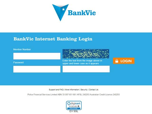 BankVic Online Banking