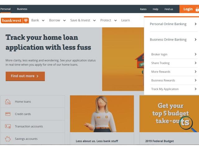 Bankwest Online Banking login