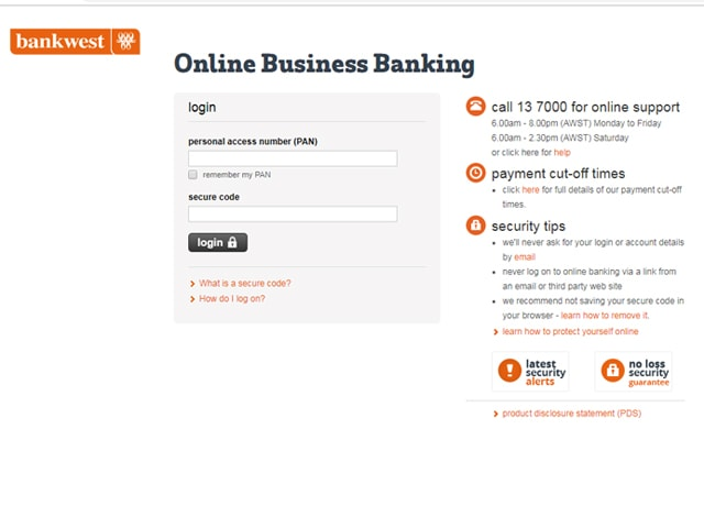 bankwest internet banking
