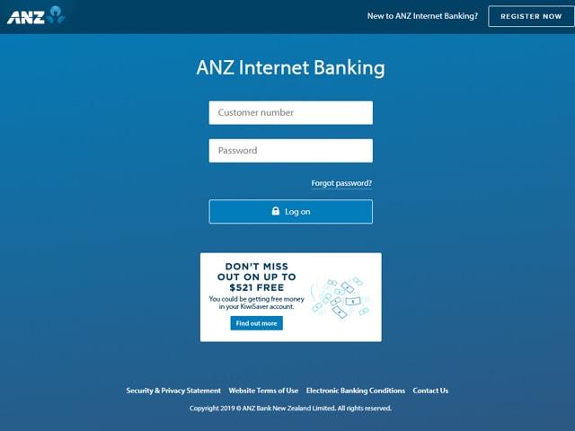 ANZ Online  banking