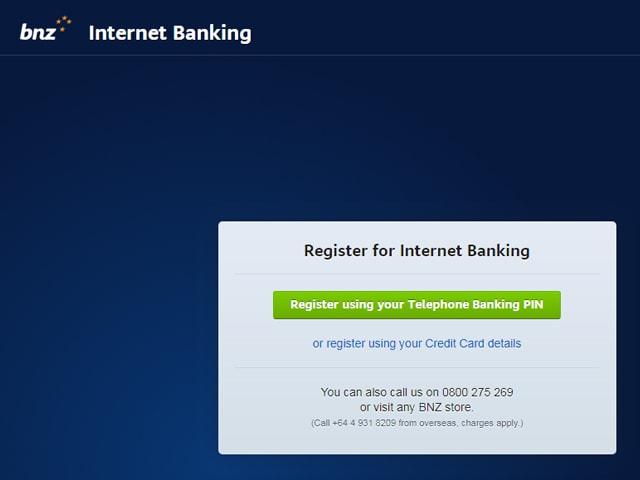 BNZ internet banking