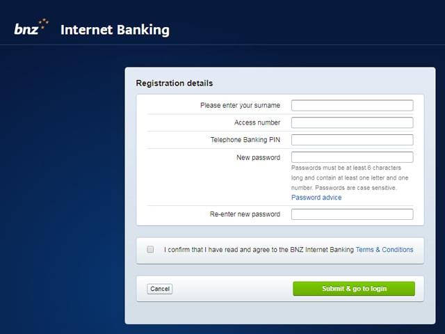 BNZ online banking