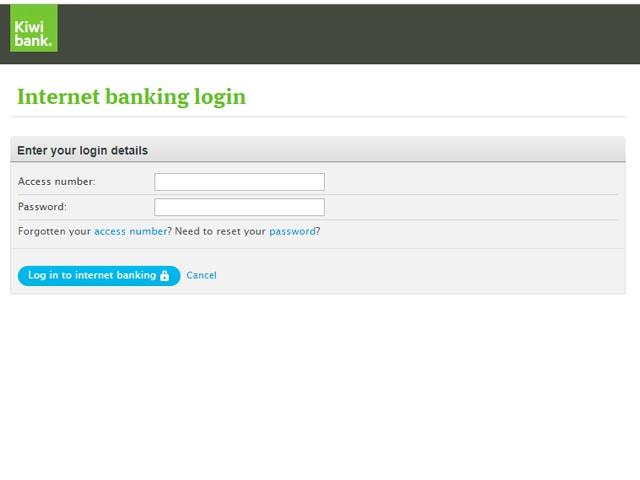 Kiwibank Internet Banking Login