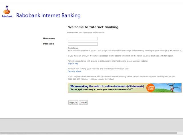 rabobank online banking