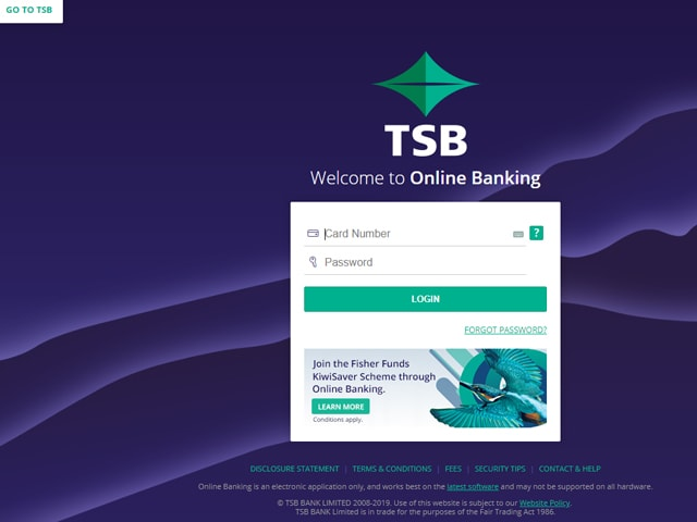 tsb bank login