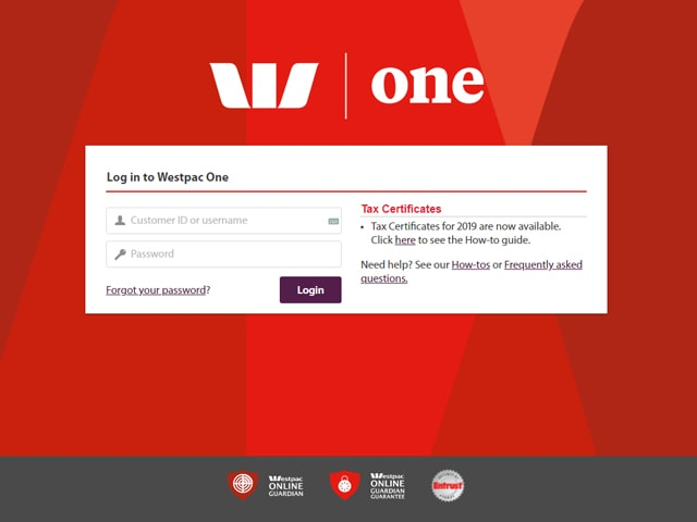 Westpac Online banking