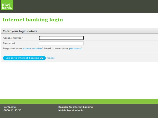 Kiwibank Credit Card Login