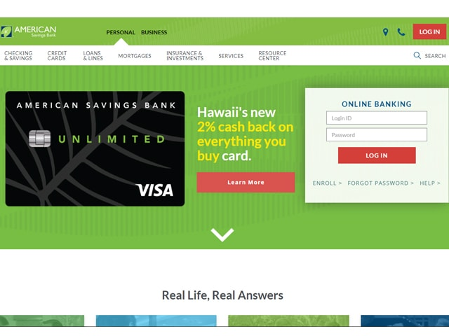 American Savings Bank Login
