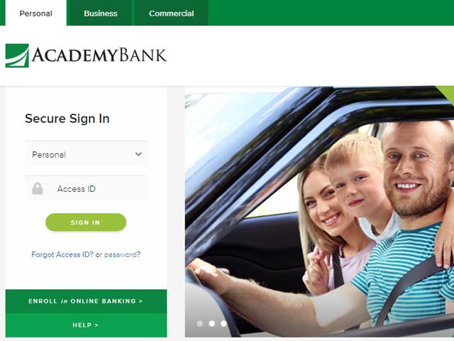 Academy Bank Online Login