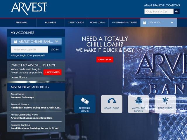 Arvest Bank Online Banking