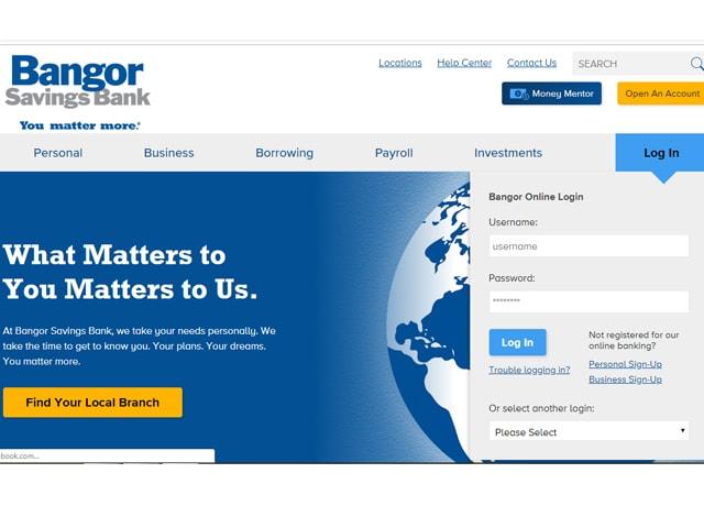 Bangor Savings Bank Online