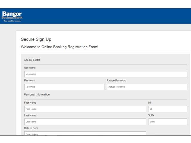 Bangor Savings Online Banking