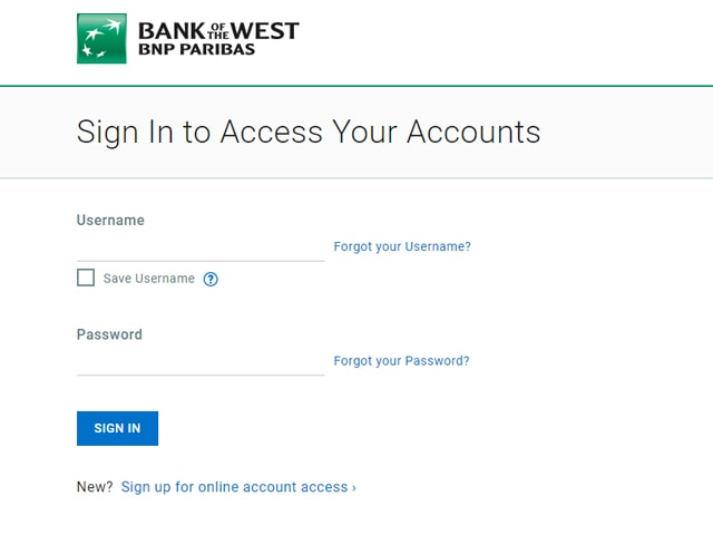 bank of the west online banking