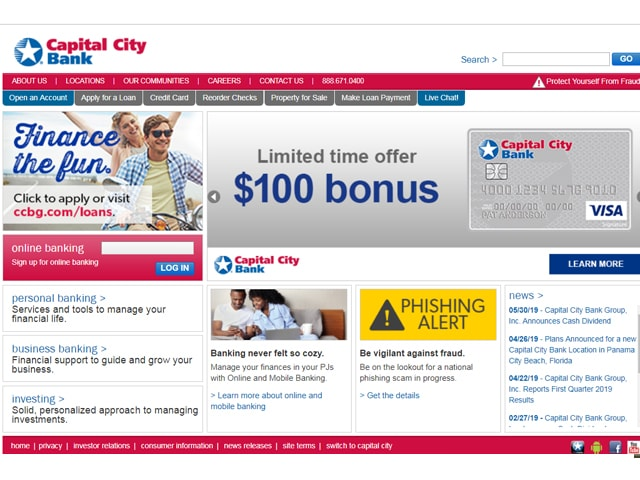 Capital City Bank Login