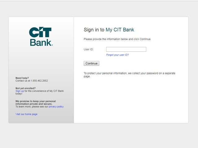 CIT Bank Login
