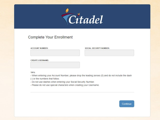 Citadel Online Banking