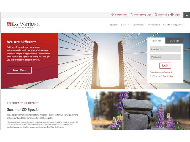 EastWest Online Banking