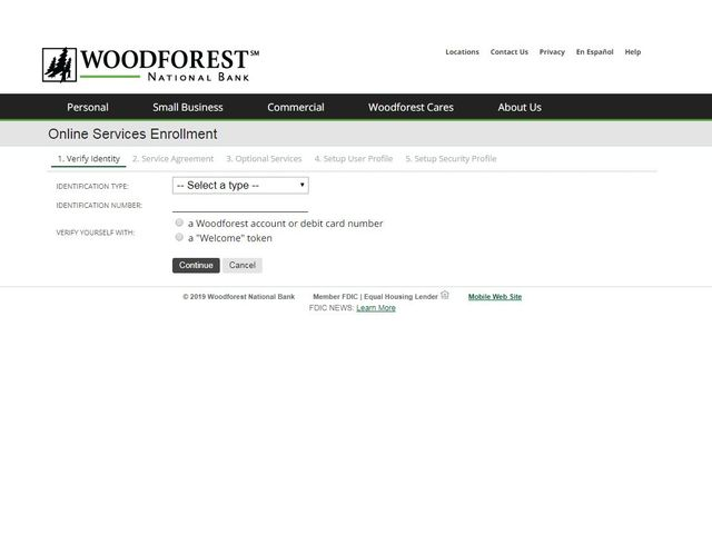woodforest login online banking