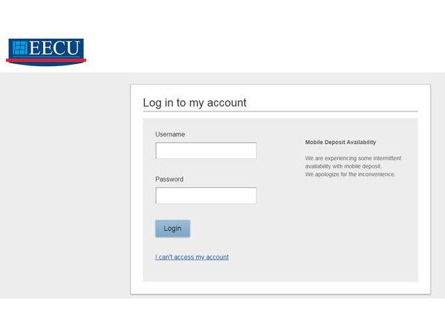 EECU Online Banking login