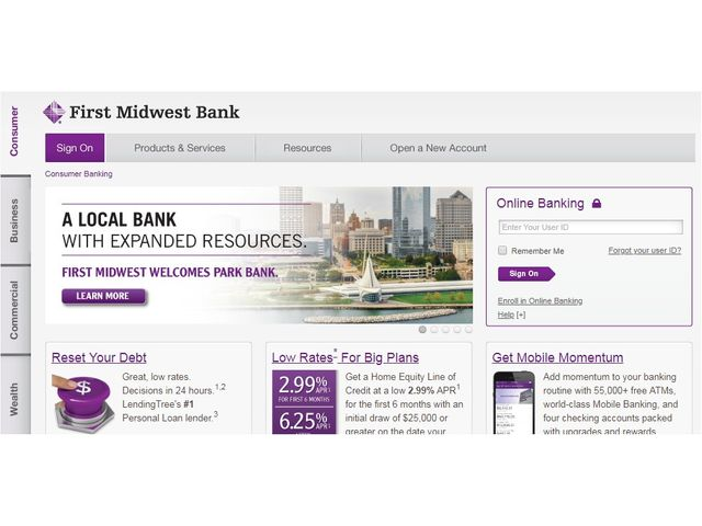 first midwest bank online banking