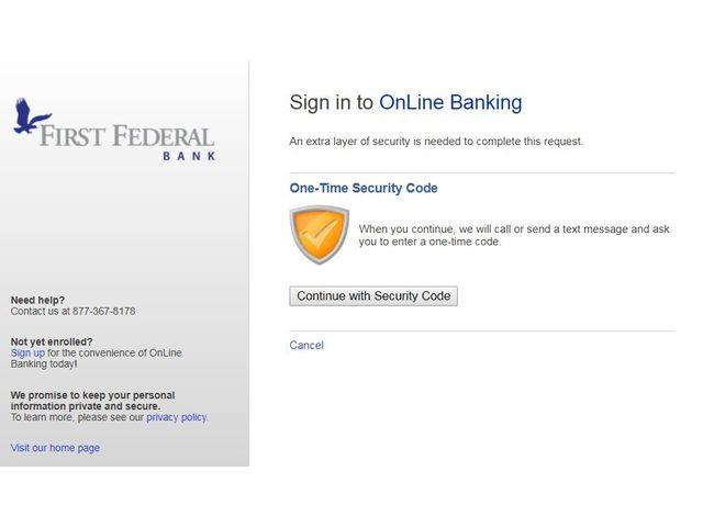 First Federal Bank Login
