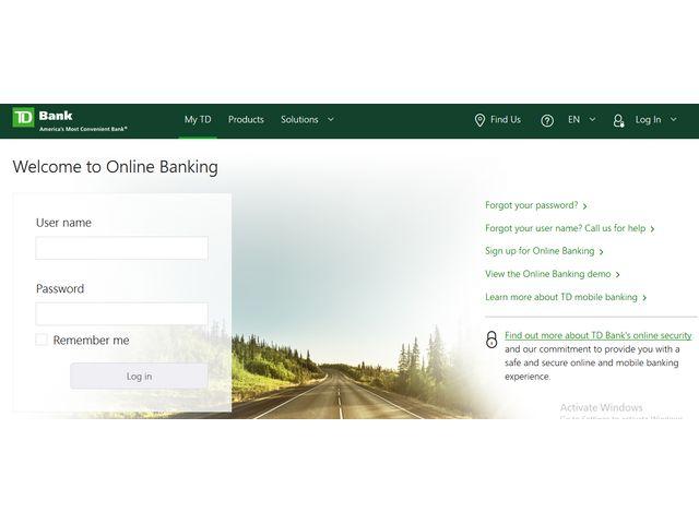 td login online banking