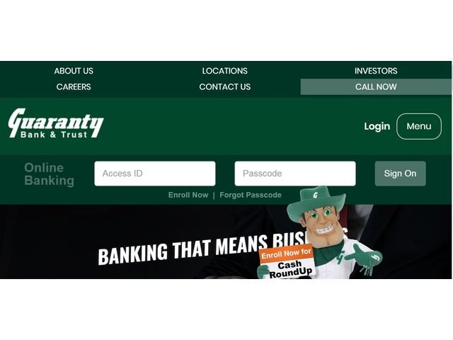 Guaranty Bank Login