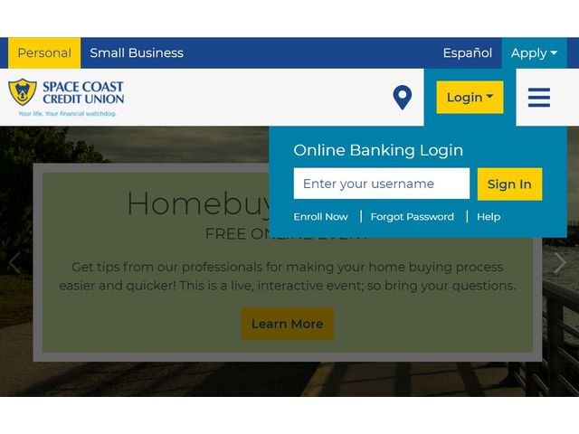 space coast credit union login