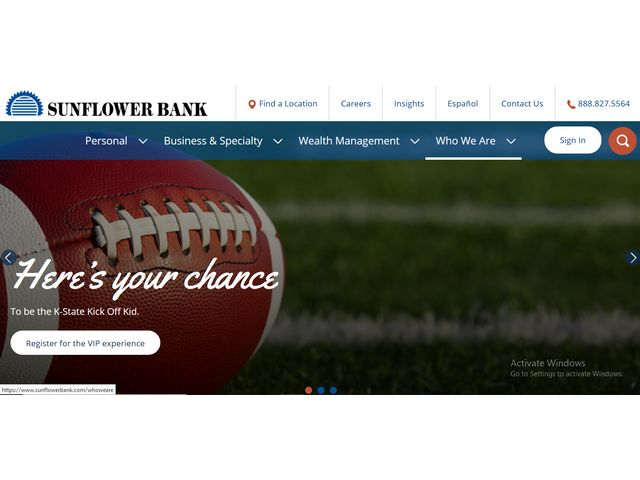 sunflower bank online banking