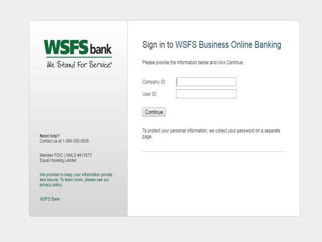 WSFS Online Banking Login