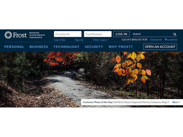 frost bank online banking