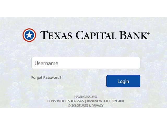 Texas Capital Bank Login