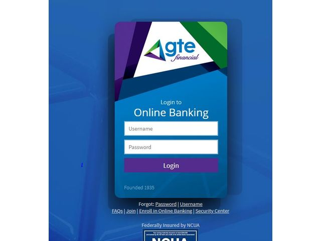 GTE Financial Online Banking