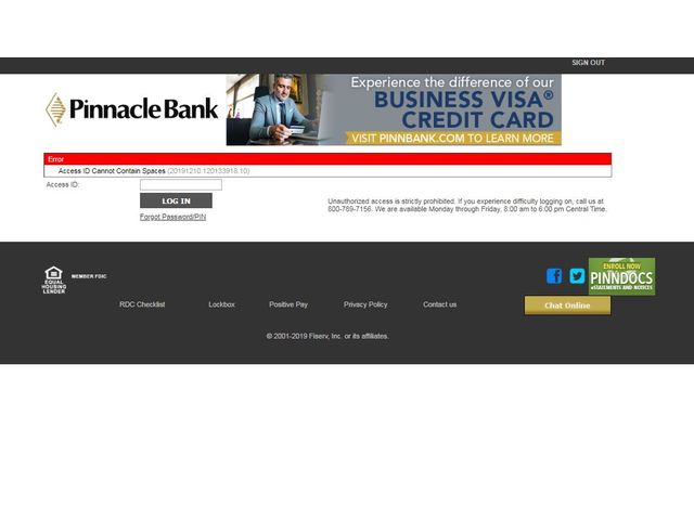 PinnBank Online Banking Login