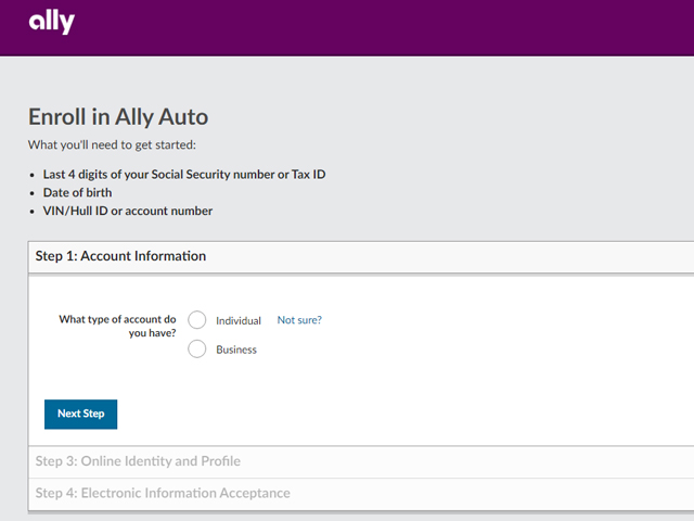 Ally Car Loan Login