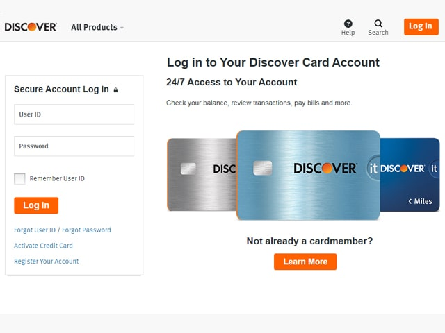 Discover Card Online Payment